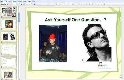 Screen shot from a PowerPoint preso.