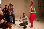 One of the funniest scenes in the movie represents the commercialization of Christmas. How about are awesome elf!