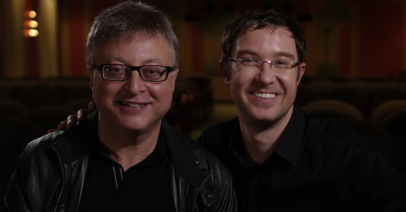 Brett with Batman exec producer Michael Uslan.