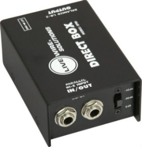 A direct box with two quarter-inch inputs.