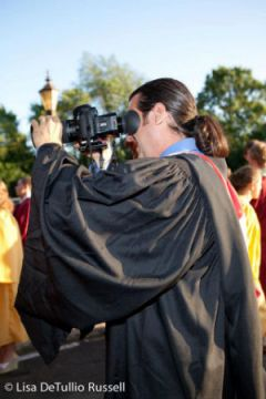 Filming my son's graduation