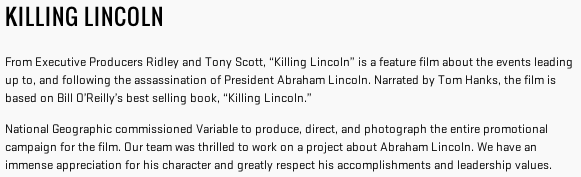 killinglincoln-summary