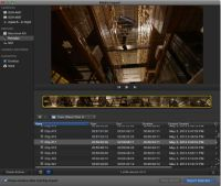 AVCHD files in FCPX import window.