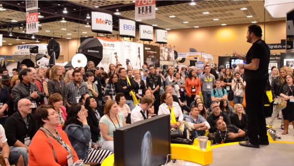 Nikon's booth is always packed when Jerry speaks.
