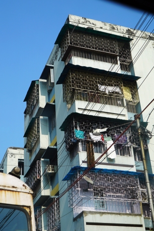 "A typical Kolkata apartment. ""Movin' on up?"""
