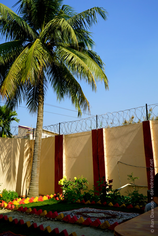 An oasis of beauty for the Mahima girls must be lined with barbed wire.