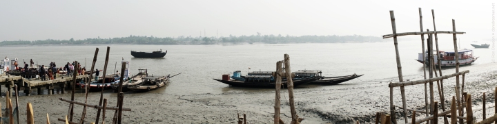 The boats to the Sundarban village.